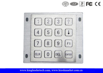 Rugged Panel Mount Kiosk 4 4 Metal Keypad 16 Flat Keys With Pin Connector